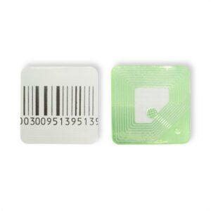 Etichete antifurt flexibile - coduri de bare false - fata hartie - 30x30 mm