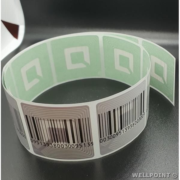 Etichete antifurt flexibile - coduri de bare false - fata hartie